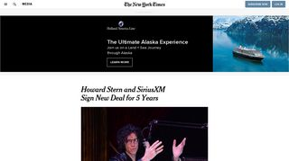 Howard Stern and SiriusXM Sign New Deal for 5 Years - The New ...