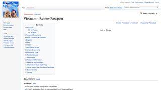 Vietnam - Renew Passport - Wikiprocedure