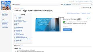 Vietnam - Apply for Child Or Minor Passport - Wikiprocedure