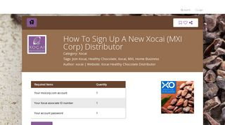 How To Sign Up A New Xocai (MXI Corp) Distributor - Steptap