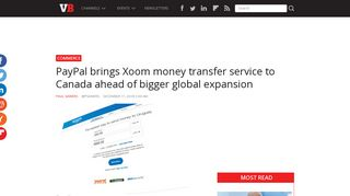 PayPal brings Xoom money transfer service to Canada ahead of ...