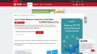 How To Start Windows Computer in Safe Mode - Ccm.net