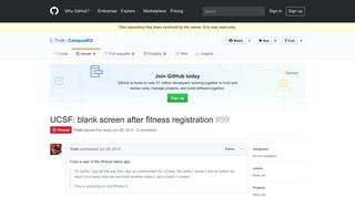 UCSF: blank screen after fitness registration · Issue #59 · Trott ...