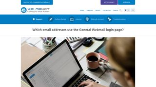 Which email addresses use the General Webmail login page? - Xplornet