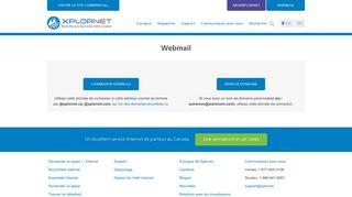 Webmail Canada Xplornet, connexion selon votre adresse courriel.