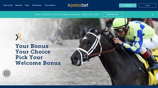 Choose Your Sign Up Bonus | Xpressbet