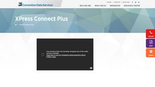 XPress Connect Plus - Convention Data Services