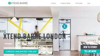 Barre Classes at London, England, UK. Official Xtend Barre Studio
