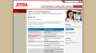 Online Account Management | XTRA Lease