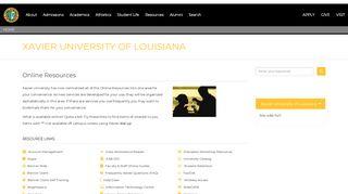 Online Resources - Xavier University of Louisiana