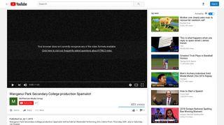 Wanganui Park Secondary College production Spamalot - YouTube