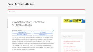 www.SBCGlobal.net – SBCGlobal ATT.Net Email Login - Email ...
