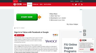 Sign In to Yahoo with Facebook or Google - Ccm.net