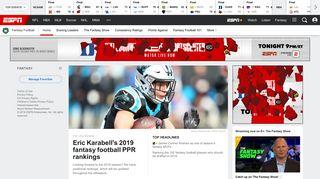 Fantasy Football - Leagues, Rankings, News, Picks & More - ESPN