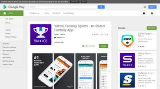 Yahoo Fantasy Sports - #1 Rated Fantasy App - Apps on Google Play