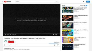 How 8 Ball Pool Accounts Are Hacked ? Fake Login Page ... - YouTube