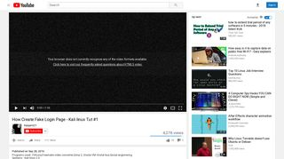 How Create Fake Login Page - Kali linux Tut #1 - YouTube