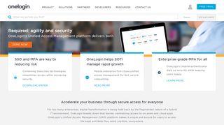 OneLogin: Identity & Access Management for the Hybrid Enterprise