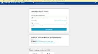 1&1 IONOS Correo – Acceso a Webmail