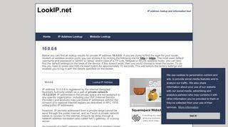 10.0.0.6 - Private Network | IP Address Information Lookup - LookIP.net