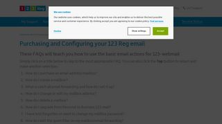 How do I purchase and configure my 123-mail account? | 123 Reg