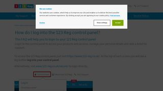 How to log in to the control panel | 123 Reg Support