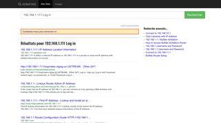 ADMIFIND - 192.168.1.111 Log in