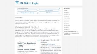 192.168.1.1 Login   192.168.l.l Admin