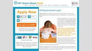 247greenstreet Login | $100$1000 Money advance On the web. Apply