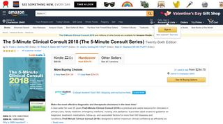 The 5-Minute Clinical Consult 2018 (The 5-Minute Consult Series): Dr ...