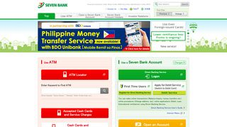 SEVEN BANK English Site | Seven Bank