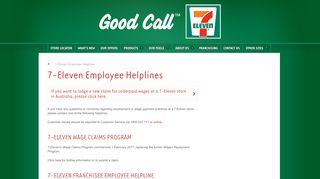 7-Eleven Employee Helplines | 7-Eleven