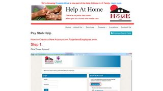 Pay Stub Help - Help At Home