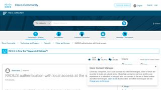 RADIUS authentication with local access... - Cisco Community