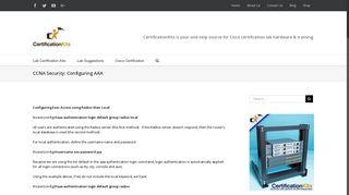 CCNA Security: Configuring AAA – CertificationKits.com