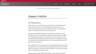 4. TACACS+ - Cisco Cookbook [Book] - O'Reilly Media