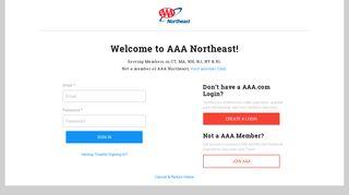 AAA Northeast: Please Login