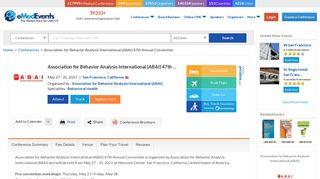 Association for Behavior Analysis International (ABAI) 47th Annual ...