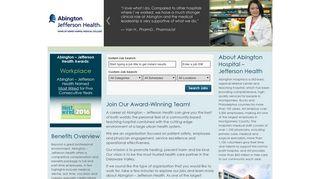 Abington Hospital – Jefferson Health Jobs