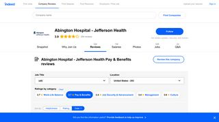 Working at Abington Hospital - Jefferson Health: 54 Reviews about ...