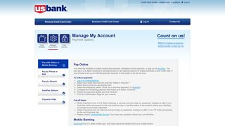 USBANK | Payment Options
