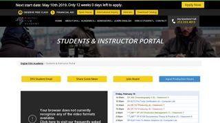 Students & Instructor Portal - Digital Film Academy