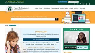 FTA Student Login   Forest Trail Academy Student portal