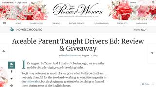 Aceable Parent Taught Drivers Ed: Review & Giveaway   The Pioneer ...