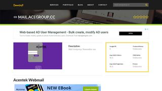 Welcome to Mail.acegroup.cc - Acentek Webmail
