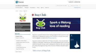 Bug Club International   Reading and Language Arts   Pearson Global ...
