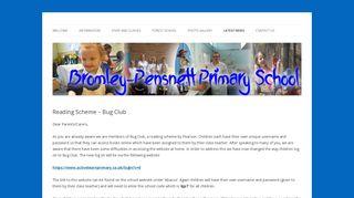 Reading Scheme - Bug Club   Bromley Pensnett Primary School
