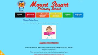 Abacus Active Learn   Mount Stuart Primary