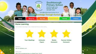 Home Learning   Southborough Primary School
