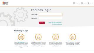 Login - iiNet Toolbox